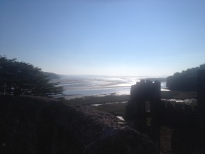 sunny view from laugharne castle